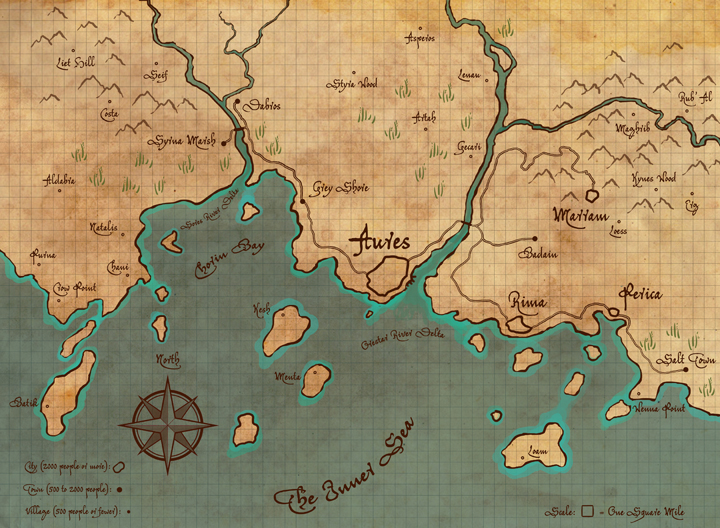 thesis - map - coastal area