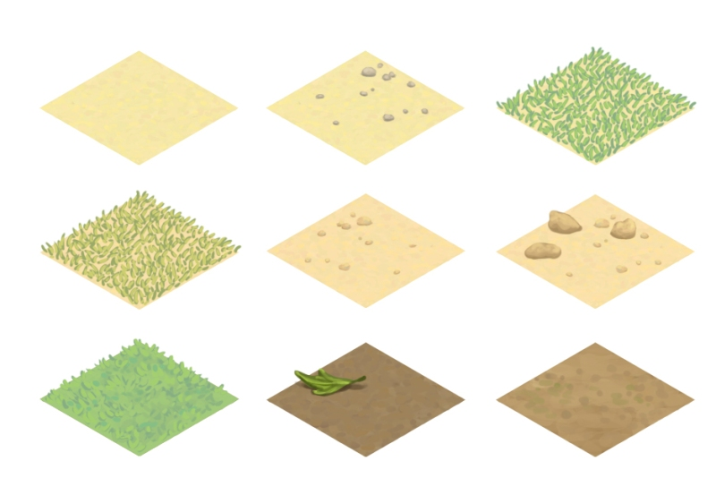 various ground tiles