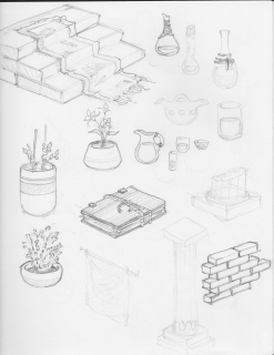 Isometric Game Art Sketches
